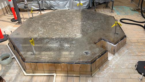Acid Storage Bund Repair - Chlorine Plant